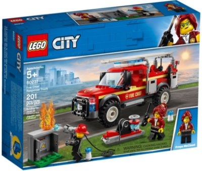 LEGO CITY 60231 FIRE CHIEF RESPONSE TRUCK