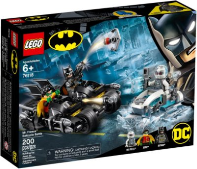 LEGO SUPER HEROES 76118 MR. FREEZE BATCYCLE BATTLE