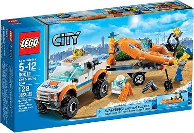 LEGO CITY 60012 COAST GUARD 4X4 & DIVING BOAT