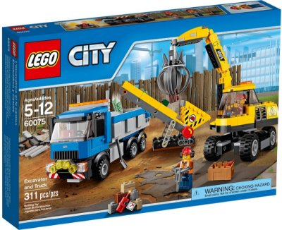LEGO CITY 60075 EXCAVATOR AND TRUCK