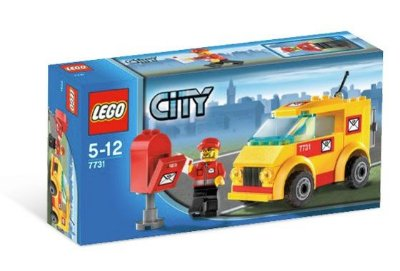 LEGO CITY 7731 MAIL VAN