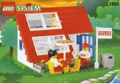 LEGO SYSTEM 1854 HOUSE WITH ROOF-WINDOWS