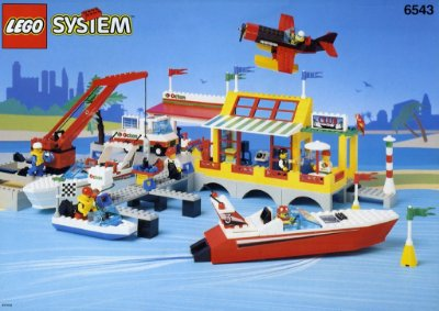 LEGO SYSTEM 6543 SAIL N' FLY MARINA