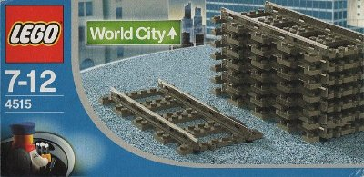 LEGO WORLD CITY 4515 STRAIGHT RAILS