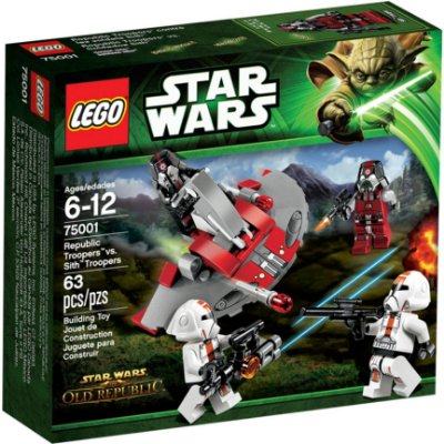 LEGO STAR WARS 75001 REPUBLIC TROOPERS VS SITH TROOPERS