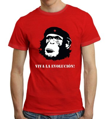 Camiseta Viva La Evolucion! (vermelha)