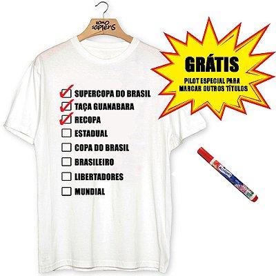 Camiseta Checklist (Coleção Rubro-Negro)
