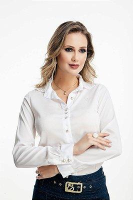 71167 - Camisa Bordado Gola - Via Tolentino