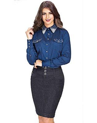3871-Camisa detalhes com pérola -Row-an