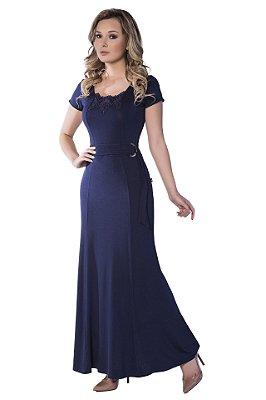 50887 - Vestido longo em Malha - Via Caruso
