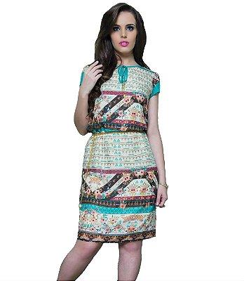 10816-Vestido Étnico Verde Puro Sharmy