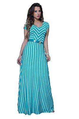 10769-Vestido Longo Listrado-Puro Sharmy