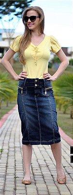 DJ-32 Saia Jeans Longuete