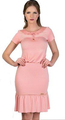 50962 - Vestido com elástico na cintura - Via Karuso