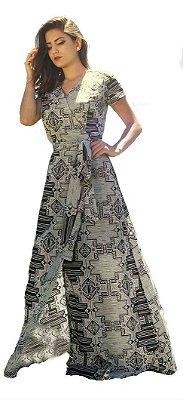 4153 - Vestido Ana Beatriz - Mulata Café