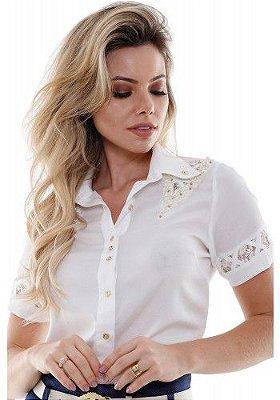 VT71179 - Camisa Detalhe Ombro - Via Tolentino