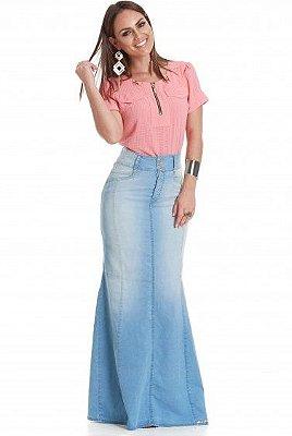 PK7236- Saia Jeans Longa - PK