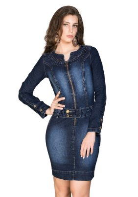 RW4033 - Vestido Jeans - Row-an