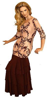 FC10456 Vestido Lace Print- Fasciniu's