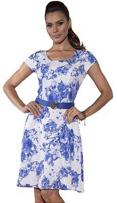 VT50786 - Vestido Lady Like Estampado - Via Tolentino