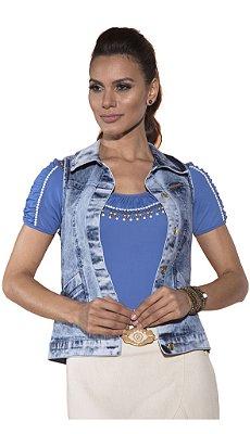 VT130128 - Colete Max Colete Jeans Via Tolentino
