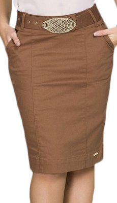 CT810 - Saia Média com Cinto Colt Jeans