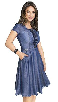 Vestido Godê Simples Liocel Moda Evangélica - RW4225