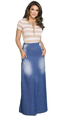 Saia Jeans Longa Moda Evangélica RW4187