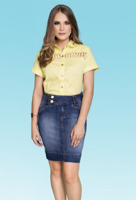 RW4202-Saia jeans chanel com taxas