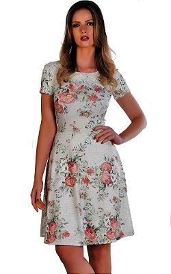 50921-Vestido de Malha com Guippir -Via K