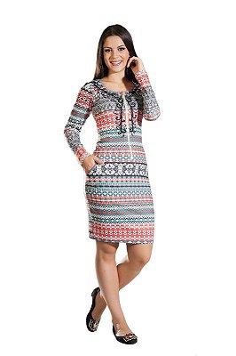 HK58738 - Vestido Tribes Vermelho - Hapuk