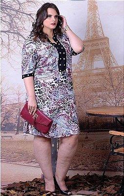 799 - Vestido Estampa Indiana -  Cassia Segeti