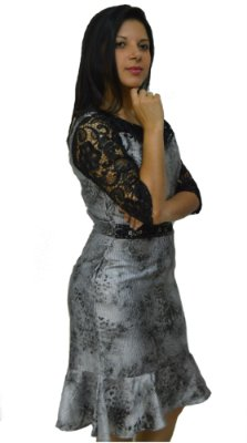 3816 - Vestido Justo com babado - Zunna Ribeiro