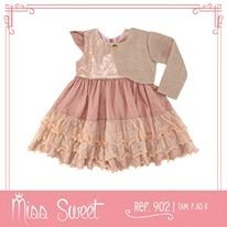 902 - Vestido Rosê c/ Bolero - Miss Sweet