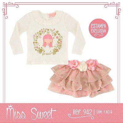 942 - Conjunto Onça Rosa - Miss Sweet