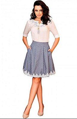 4385 - Conjunto Saia Jaquard - Zunna Ribeiro