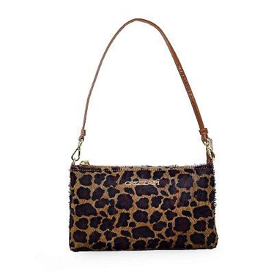 Bolsa em couro Legítimo couro com pelo leopardo CR-816