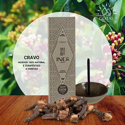 Incenso Natural Terapêutico de Cravo Inca Aromas - Caixa C/4 Varetas