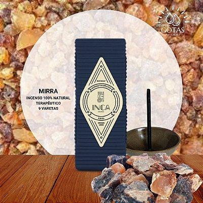 Incenso Natural Terapêutico de Mirra  Inca Aromas - Caixa com 9 varetas