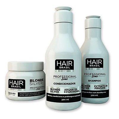 Kit Hair Brasil Máscara + Shampoo + Condicionador