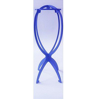 Suporte para guardar e lavar Peruca na cor azul
