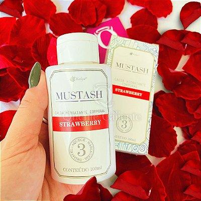 MUSTASH - Calda Beijavel  Para Sexo Oral Sabor: Morango | 100 ml KALYA