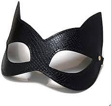 Secret Play Máscara Em Couro Mulher Gato - Cor: Preto | 9070