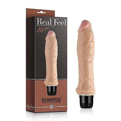 REAL FEEL 8'' - Prótese Realística com Vibrador - 5657