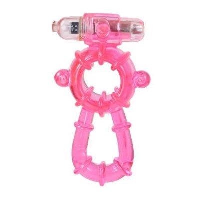 BEEFCAKE - Anel Peniano Duplo com Vibrador | Medida Interna: 2 cm