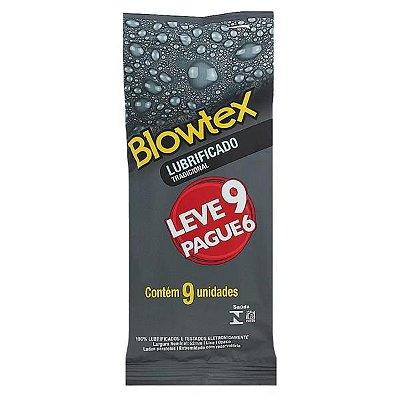 PRESERVATIVO BLOWTEX - Lubrificado Tradicional | Pacote com 9 unidades