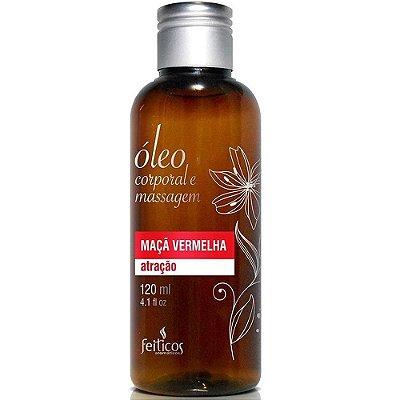 ATRAÇÃO - Óleo Afrodisíaco Para Massagem - Aroma: Maçã Vermelha - Feitiços - 120ML