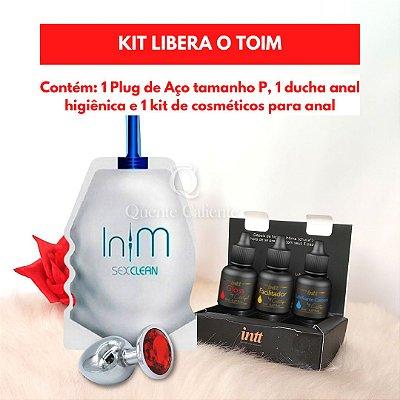 KIT LIBERA O TOIM - Plug Anal Joia P + Ducha Íntima + Kit Meu Primeiro Anal