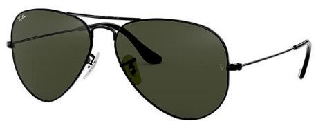RAY-BAN AVIADOR BLACK POLARIZADO 3025