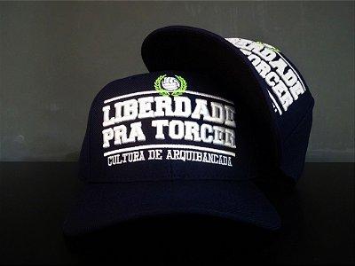 Boné Liberdade pra Torcer Azul Marinho